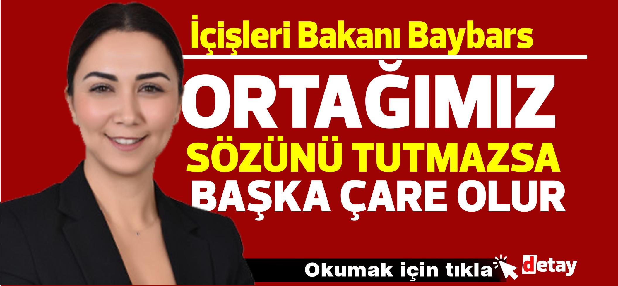 """Baybars'tan sert açıklama: """"UBP, koalisyona uygun davranmazsa başka çareler ortaya çıkar"""""""
