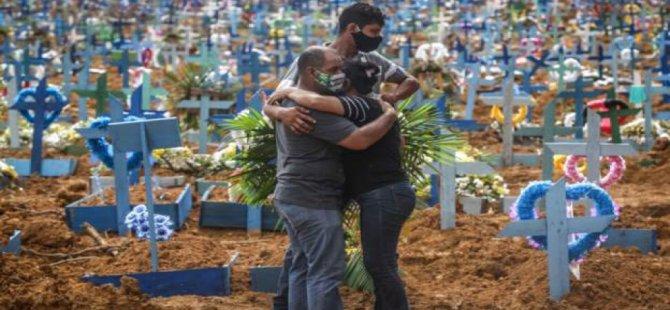 Covid-19 nedeniyle son 24 saatte Brezilya'da 1300 Kişi Hayatını Kaybetti