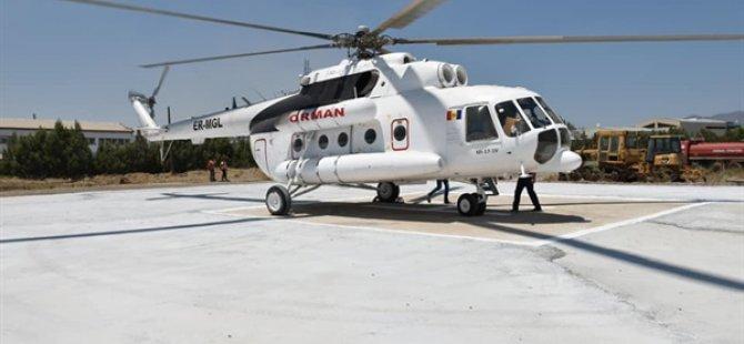 Türkiye tarafından ülkeye yangın söndürme helikopteri konuşlandırıldı