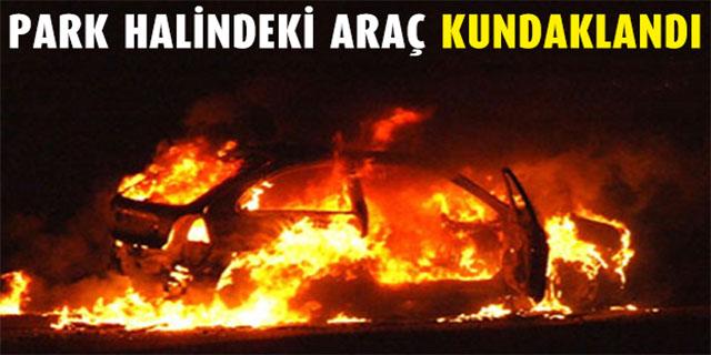 Lefkoşa'da araç kundaklandı