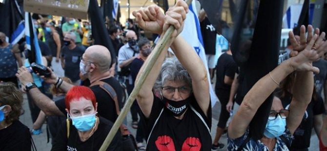Tel Aviv'de binlerce kişi Netanyahu hükümetini protesto etti