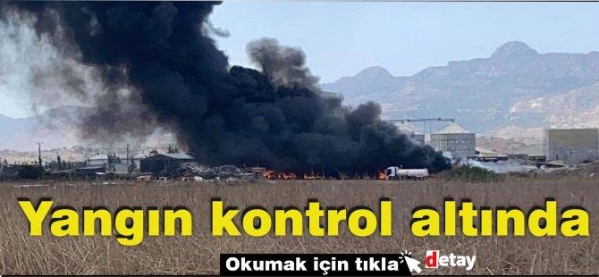 Haspolat'taki yangın kontrol altına alındı