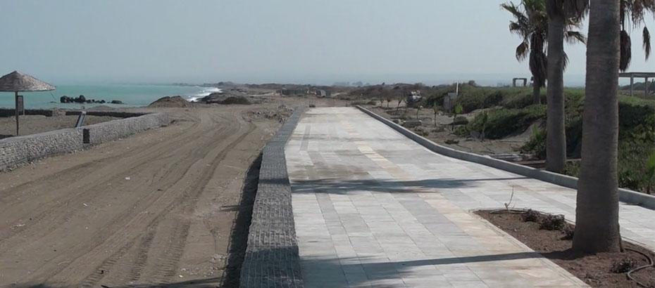 Gaziveren sahiline 5 kilometrelik yürüyüş ve bisiklet yolu yapılıyor