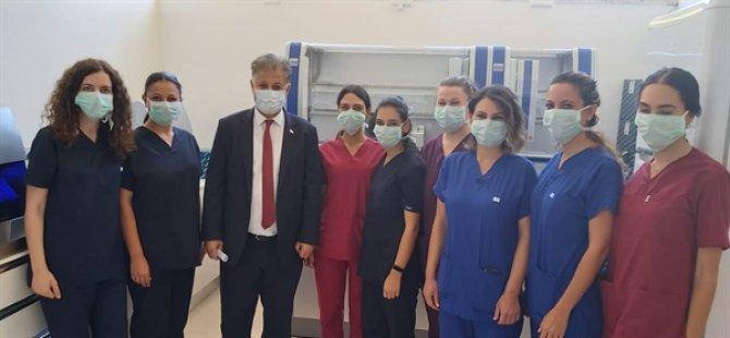 Sağlık Bakanı Pilli, Lefkoşa Dr Burhan Nalbantoğlu Devlet Hastanesi DNA Laboratuvarını Ziyaret Etti.