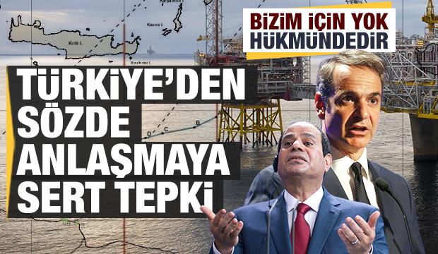 'Yunanistan ile Mısır arasında imzalanan anlaşma,Türkiye için yok hükmündedir'