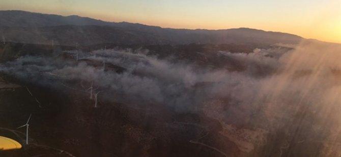 Limasol-BAF Sınırındaki Yangın Kontrol Altına Alınamıyor