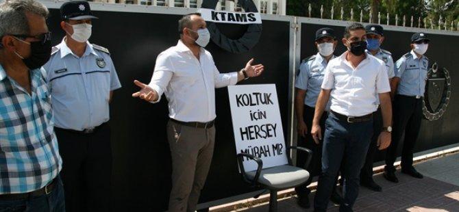 Ktams Geçici İşçi İstihdamlarını Başbakanlık Önünde Protesto Etti