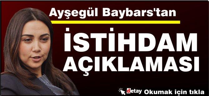 Ayşegül Baybars'tan istihdam açıklaması