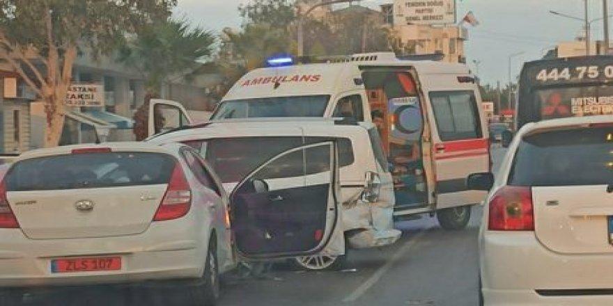 Lefkoşa'da kaza korkuttu