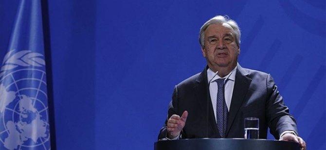 """BM Genel Sekreteri Guterres: """"Lübnan'ı Mümkün Olan Her Şekilde Desteklemeyi Sürdüreceğiz"""""""