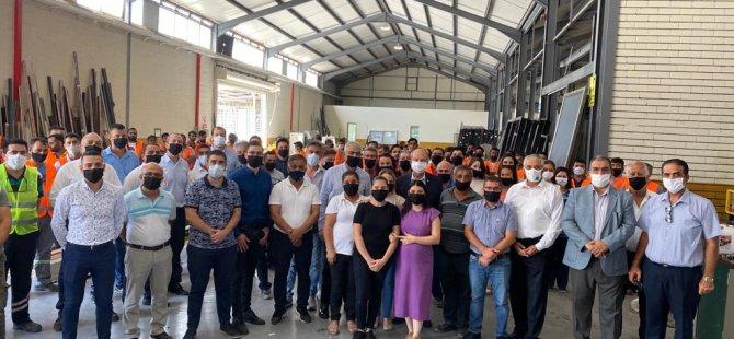 Başbakan Tatar, Alayköy Sanayi Bölgesi'nden sonra bugün de Haspolat Sanayi Bölgesi'ni ziyaret etti.