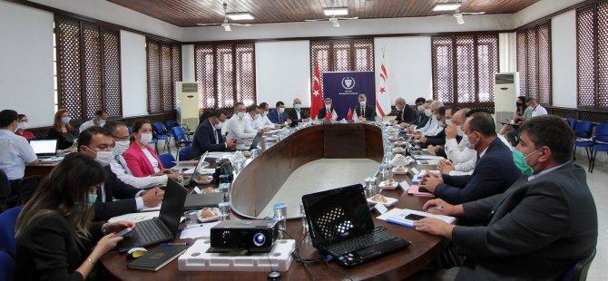 TC-KKTC Mali Protokolü I. Gözden Geçirme Toplantısı Turizm ve Çevre Bakanlığı toplantı salonunda yapıldı.