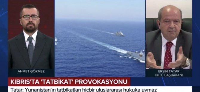 Başbakan Tatar TRT Haber'e Doğu Akdeniz'deki Son Gelişmeleri Değerlendirdi