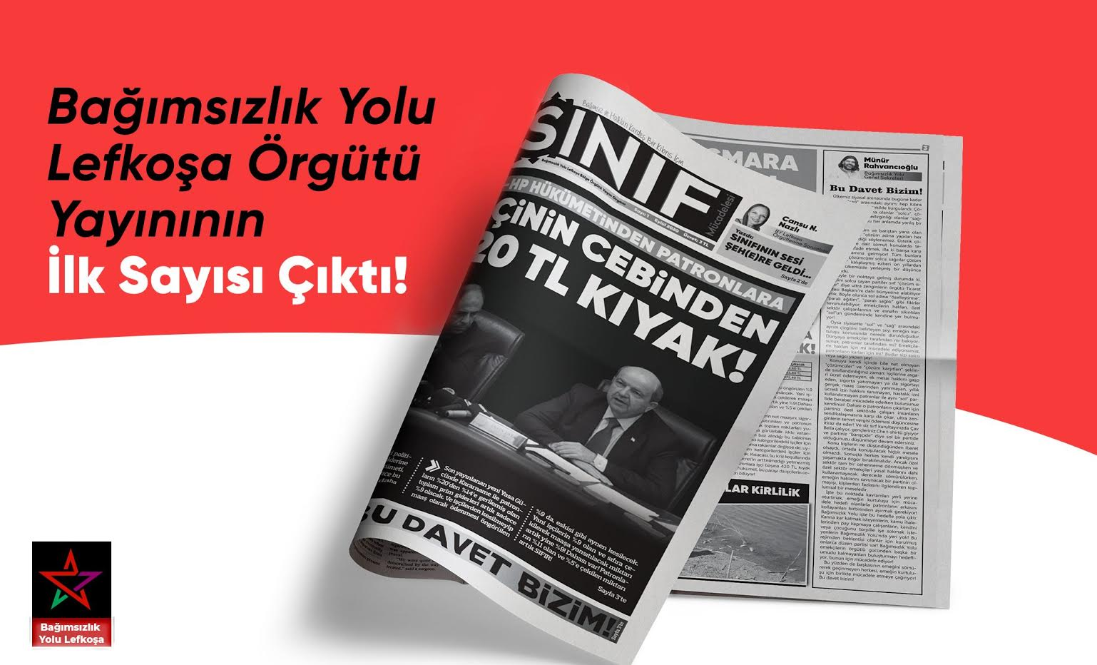 Bağımsızlık Yolu Lefkoşa'nın yayını Sınıf'ın ilk sayısı çıktı!