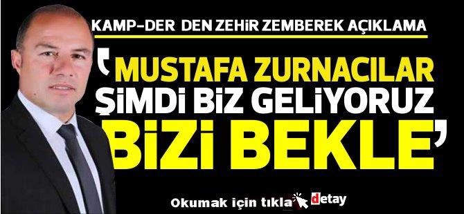 Kamp-Der, eylem yapıp, Yeniboğaziçi belediyesine siyah çelenk koyacak!