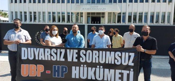 """KTAMS Başbakanlık önünde eylem yaptı: """"Grev devam edecek"""""""