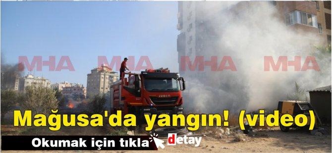 Mağusa'da yangın! (video)