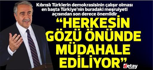 """Cumhurbaşkanı Mustafa Akıncı: """"Büyükelçilik seçim karargahına döndü"""""""