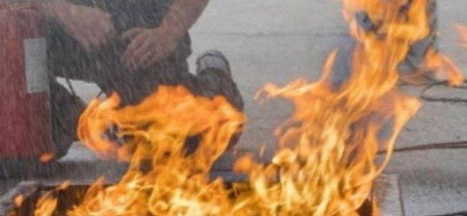 Yetkili Makamdan İzinsiz Ateş Yakıp Eylem Yaptılar