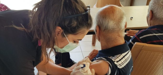 Sağlık Merkezleri ve yaşlı bakımevlerinde pnömokok aşıları yapılıyor