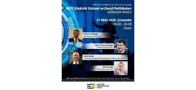 """EMO """"KKTC Elektrik Sistemi Ve Enerji Politikaları"""" Panelini İnternet Ortamında Düzenliyor"""