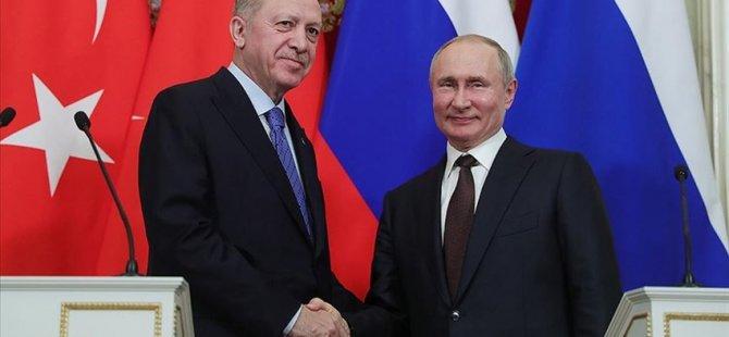Cumhurbaşkanı Erdoğan Putin İle Telefonda Görüştü