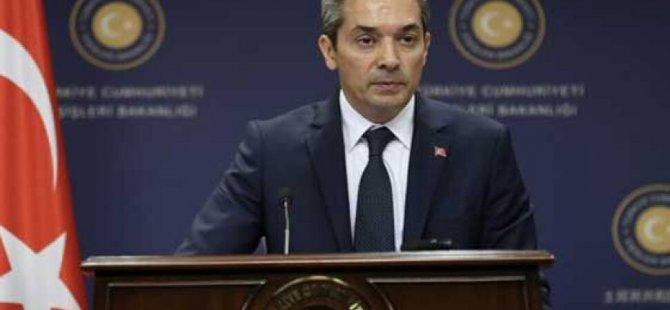 TC Dışişleri Bakanlığı sözcüsü:Tehdit dili Türkiye'ye işlemez