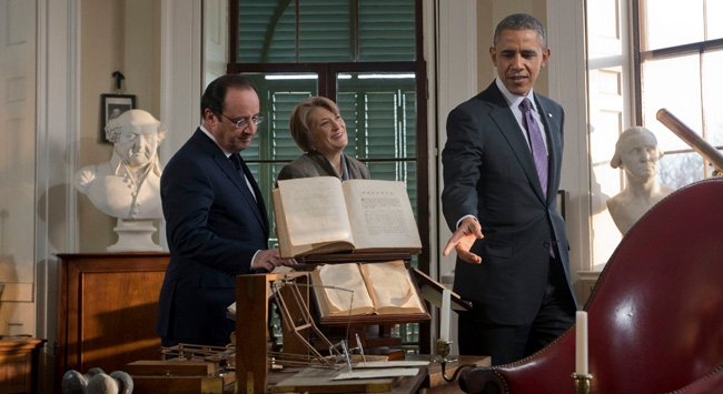 Obama ve Hollande Malikane Gezisinde