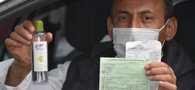 Alkol nedeniyle ehliyeti alınıp ceza kesilen sürücü: Kolonya kullandığım için alkol çıktı