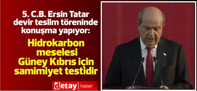 5.Cumhurbaşkanı Ersin Tatar'ın devir teslim konuşması