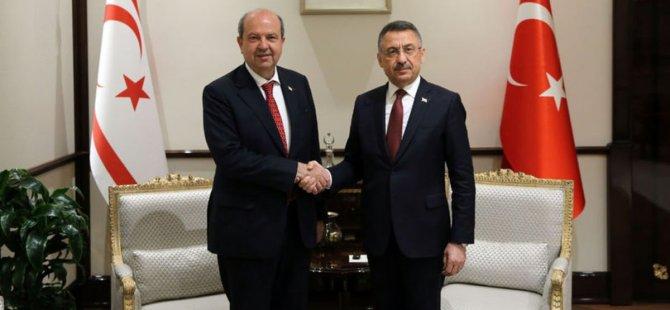 Ersin Tatar, Fuat Oktay ile görüşme gerçekleştiriyor