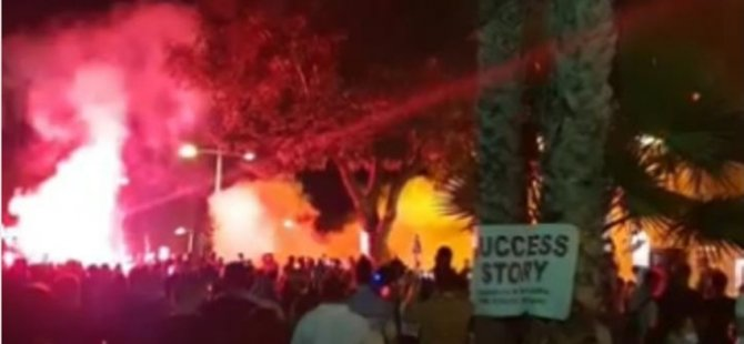 Limasol'da Protesto Gösterileri