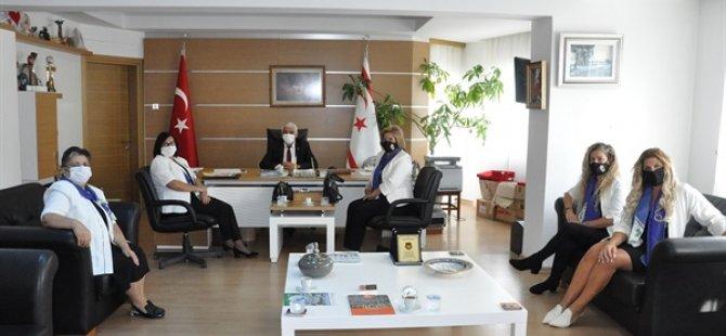 Güzelyurt Yeşilada Lions Kulübü yeni yönetimi Özçınar'ı ziyaret etti