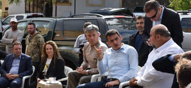 Bakan Oğuz, Karpaz'da Afet Bölgesinde İncelemede Bulundu