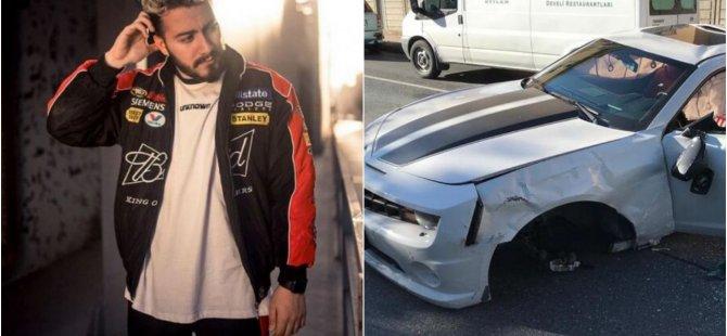 Youtuber Enes Batur'un kaza yaptığı anlar kamerada
