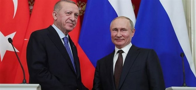 TC Cumhurbaşkanı Erdoğan, Rusya Devlet Başkanı Putin İle Telefonda Görüştü