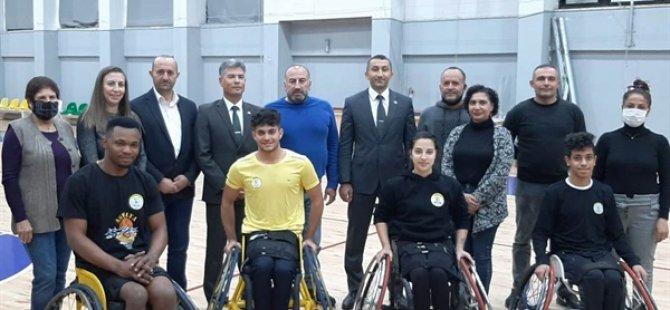 Sivil Savunma Teşkilatı Başkanlığı Aspelya Engelliler Spor Kulübü'nü ziyaret etti