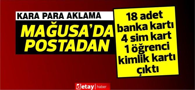 Gazimağusa Merkez Posta Şubesi'ne gönderilen bir paketten 18 banka kartı çıktı