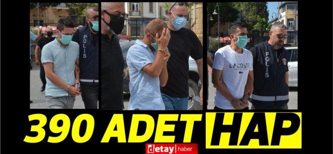 Lefkoşa'da 390 adet uyuşturucu hapla yakalanmışlardı...Cezaevine gönderildiler