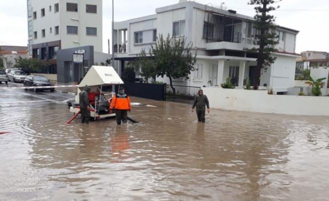 Gazimağusa'da metrekareye 85 kg yağış düştü