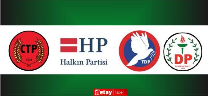 4 siyasi partinin başkanı CTP'de bir araya geldi...