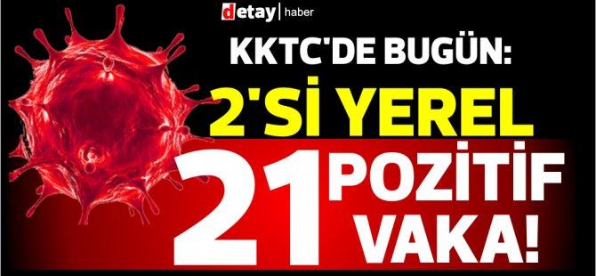 KKTC'de bugün: 2'si yerel 21 pozitif vaka!