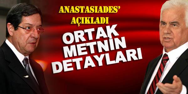 """Anastasiades'in Ağzından İşte Merak Edilen """"Ortak Açıklama"""""""