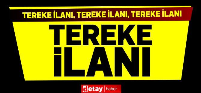 Tereke İlanı... Tereke İstida no:166/2020