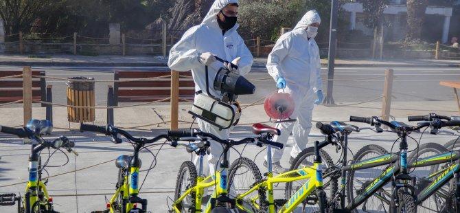 Kapalı Maraş'taki 600 Adet Bisiklet Dezenfekte Edilerek Yeniden Hizmete Sunuldu