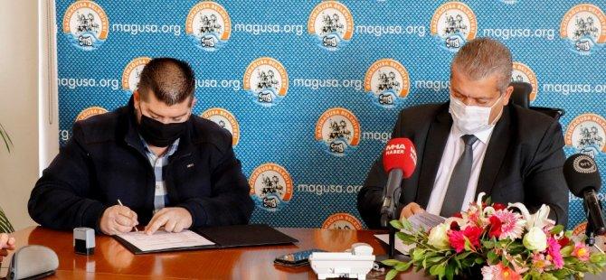 Gazimağusa Belediyesi'nde 9 bin tonluk asfalt ihalesinin sözleşmesi imzalandı