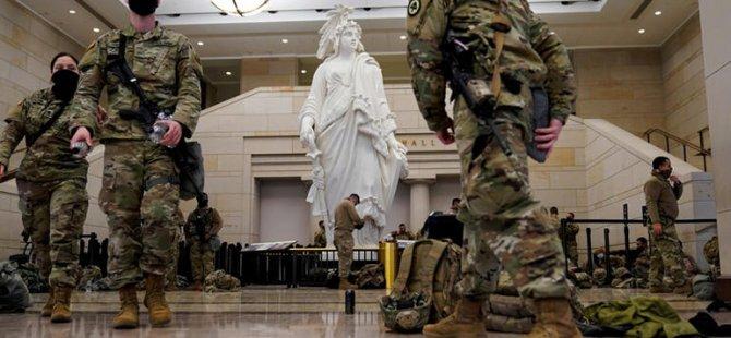 Trump'ın azil süreci: Olağanüstü güvenlik önlemleri alındı; Ulusal Muhafızlar, Kongre binasında