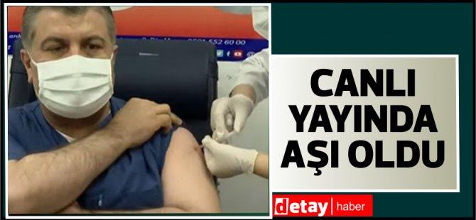 Türkiye'de aşılama yarın başlıyor...İlk aşıyı Fahrettin Koca oldu (video)
