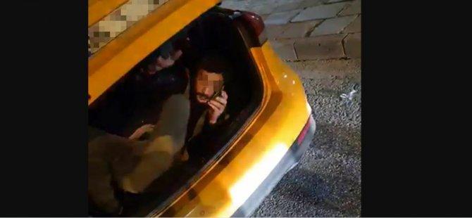 Taksinin bagajında yolculuk yapan adam: Olur böyle vakalar, Türk polisi yakalar