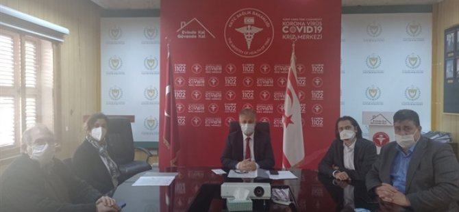 Kıbrıs Türk Tabipler Odası Heyeti Bakan Pilli'yi ziyaret etti